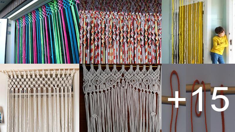Crea bonitas cortinas con trapillo para tu hogar