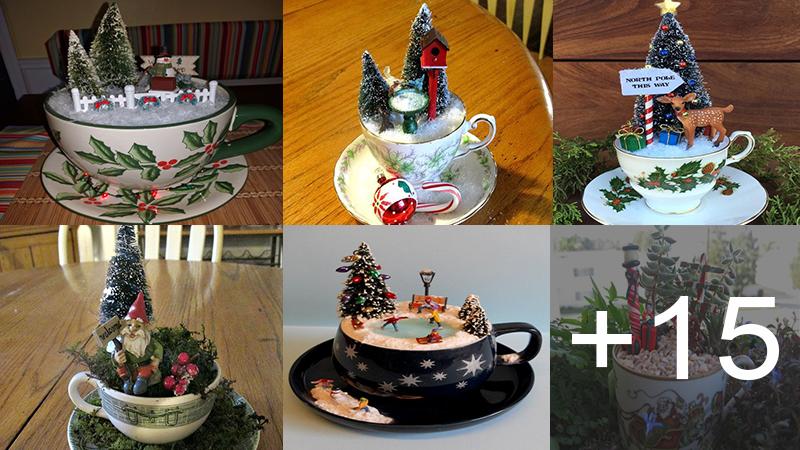 Aprende hacer tacitas decorativas navideñas