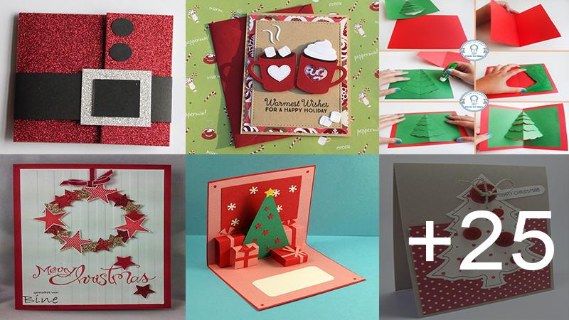 como hacer tarjetas de regalos navideñas