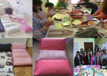 aprende hacer cama de almohadas para sus hijos
