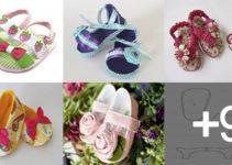 Aprende hacer zapatos para bebé con patrones