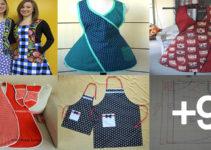 Aprende hacer delantales con patrones