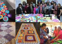 hacer caminos para mesas hechos de crochet