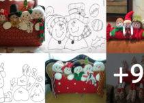 Aprende Hacer Cojines con personajes navideños